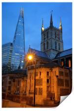 The Shard & Southwark Cathedral at Night, Print