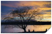 Rother Valley Sunset, Print
