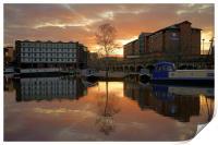 Victoria Quays Sunset, Sheffield, Print