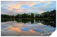 Chard Reservoir at Dawn, Print