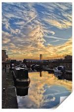 Sheffield Canal Sunset, Print