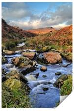 Burbage Brook in Autumn, Print