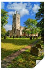 St John The Baptist Church,Wadworth, Print