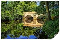 Leadmill Bridge and River Derwent Reflections, Print