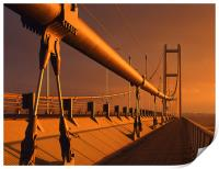 Humber Bridge at Sunset, Print