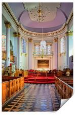 All Saints Church Interior, Gainsborough , Print