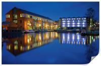 Victoria Quays at Night, Print
