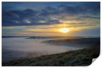 Sunrise over Hope Valley Mist, Print