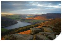 Ladybower View on Bamford Edge , Print