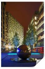 Millennium Square at Night , Print