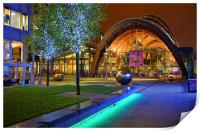Winter Gardens and Millennium Square in Sheffield , Print