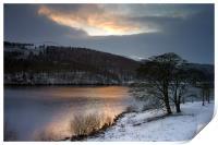 Winter Sunset over Ladybower , Print