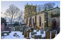 St Edmunds Church, Castleton in Winter, Print