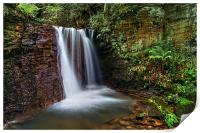 Waterfall near Damflask Reservoir, Print