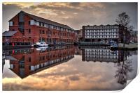 Victoria Quays Sunset , Print