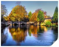 Sheepwash Bridge and The River Wye , Print