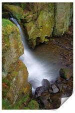 Looking Down Lumsdale Falls , Print