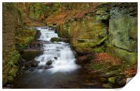 Lumsdale Waterfalls , Print