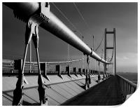 Humber Bridge in Mono, Print
