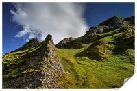 Limestone Pinnacles, Winnats Pass , Print