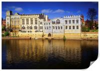 York Guildhall & River Ouse, Print