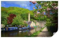 Rochdale Canal at Hebden Bridge , Print