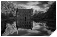 Gibson Mill Reflections , Print