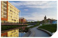 Pocket Park and River Don, Sheffield , Print