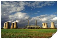 Stormy Skies over West Burton Power Stations, Print