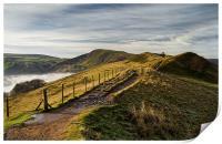 Misty Morning on the Great Ridge , Print
