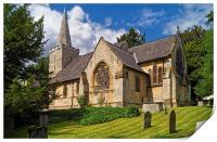 St Bartholomew's Church, Maltby , Print