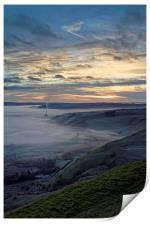 Hope Valley Inversion and Sunrise , Print