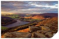 Golden Views of Ladybower , Print