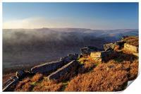 Win Hill Mist from Bamford Edge , Print