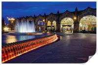 Sheaf Square at Night , Print