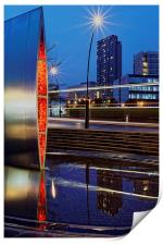 Sheaf Square Water Feature and City Centre , Print