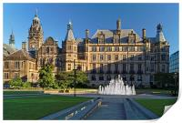 Sheffield Town Hall and Peace Gardens  , Print