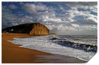 Stormy day at West Bay, Print