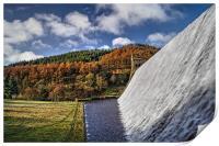 Derwent Dam in Autumn, Print