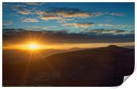 Sunset from Bamford Edge, Print