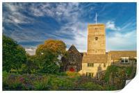 St Marys Church, Swanage, Print