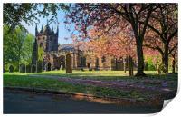 St Mary Magdelene Church, Whiston                 , Print