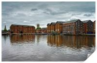 Gloucester Docks and Cathedral                   , Print