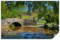 Malham Bridge and Beck                      , Print
