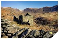 Abandoned Barn,Kirkstone Pass,Lake District       , Print
