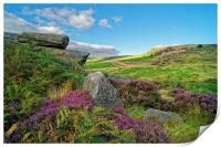Burbage Rocks and Valley                       , Print