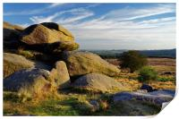 Owler Tor and Lawrence Field                      , Print