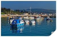 Lyme Regis Harbour                       , Print