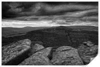 Win Hill under Stormy Skies                       , Print