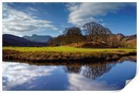 River Brathay Reflections                         , Print